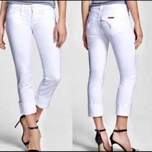 NEW Hudson Ginny Crop Straight Cuffed Crop Jeans
